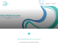 Dra. Marina Batista da Cunha website screenshot