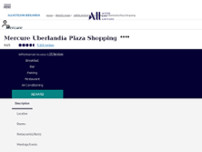 Mercure Uberlandia Plaza Shopping Hotel website screenshot