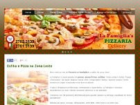 Pizzaria La Famiglias website screenshot