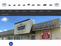 Cooper Brothers Auto Service Ltd website screenshot