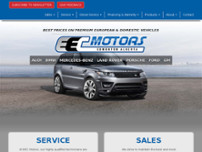EEC Motors Ltd website screenshot