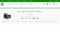 TD Canada Trust Branch and ATM website screenshot
