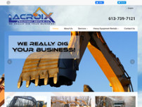 Lacroix Equipment Rentals Ltd website screenshot