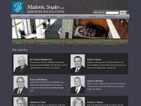 Madorin Snyder LLP website screenshot