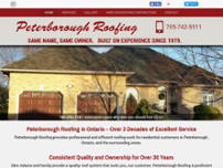 Peterborough Roofing website screenshot