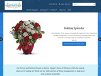 Ginger's House of Flowers & Gifts website screenshot