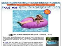 Pool Mart website screenshot