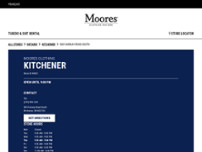 Moores Clothing for Men website screenshot
