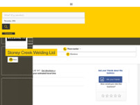 Stoney Creek Welding Ltd website screenshot