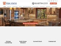 Pro Stone website screenshot