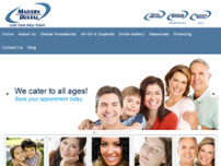 Malvern Town Centre Dental website screenshot