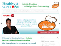 Healthy Options website screenshot