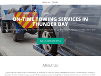 Northwoods Towing website screenshot