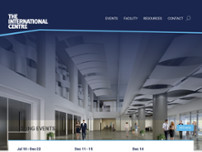 The International Centre website screenshot