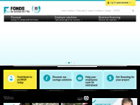 Fonds de Solidarité FTQ website screenshot