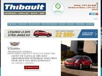 Thibault Chevrolet Cadillac Buick GMC de Sherbrooke website screenshot