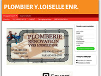 Plomberie Rénovation Yves Loiselle Enr website screenshot