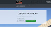 Lebeau Vitres d'autos website screenshot