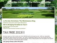 Le Roi des Entretiens/ The Maintenance king website screenshot