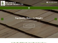 Sicamous Cedar Products website screenshot