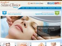 Bradford Skin Clinic & Med Spa website screenshot