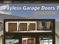 Payless Garage Doors Toronto website screenshot