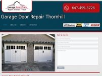 Garage Door Repair Thornhill website screenshot