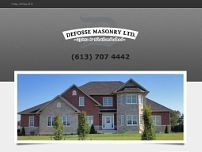 Defosse Masonry website screenshot