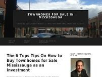 Townhouses Mississauga Finders website screenshot