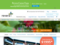 Revera The Annex Retirement Residence website screenshot