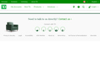 TD Canada Trust ATM website screenshot
