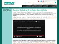Canam Building Envelope Specialists Inc. website screenshot