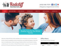 Redcliff Family Dental Centre website screenshot