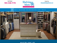 Shelving & More website screenshot