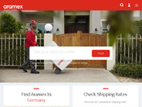 Aramex website screenshot