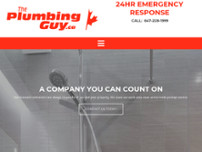 The Plumbing Guy website screenshot