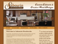 Sabourin Woodworks Inc website screenshot