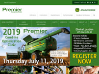Premier Equipment website screenshot
