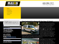 Mason Locksmiths Inc website screenshot