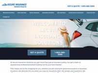 Secure Insurance Solutions website screenshot