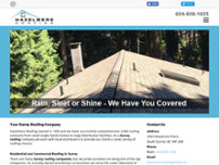 Hazelmere Roofing Ltd website screenshot