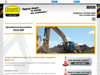 Jacques Bédard Excavation Ltd website screenshot