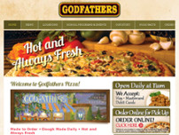 Godfathers Pizza - Cayuga website screenshot