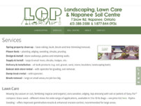 Lawn Care Professionals website screenshot