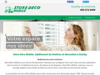 Store Déco Mobile website screenshot