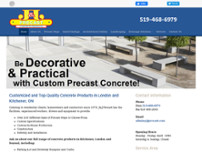J & J Precast Ltd website screenshot