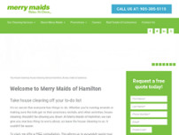 Merry Maids of Hamilton West, Hamilton East & Stoney Creek website screenshot