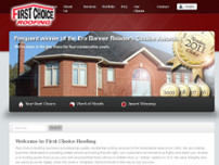 First Choice Roofing website screenshot