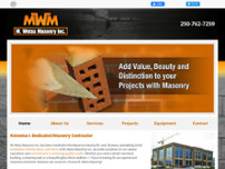 M Weiss Masonry Inc website screenshot