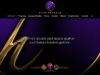 Harris Institute For The Arts website screenshot